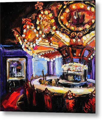 Hotel Monteleone Bar Metal Print by Carole Foret