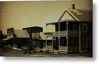 Hotel On Main Street II Metal Print by Terry Eve Tanner