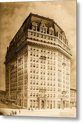 Hotel Pontchartrain Detroit 1910 Metal Print by Mountain Dreams