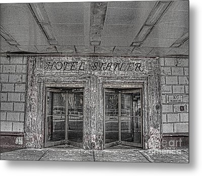 Metal Print featuring the photograph Hotel Statler Buffalo Ny by Jim Lepard