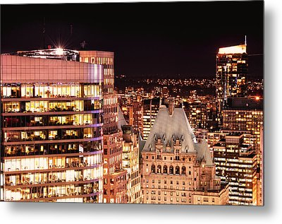 Metal Print featuring the photograph Hotel Vancouver And Wall Center Mdccv by Amyn Nasser