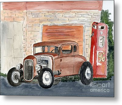 Metal Print featuring the painting Hotrod by Eva Ason