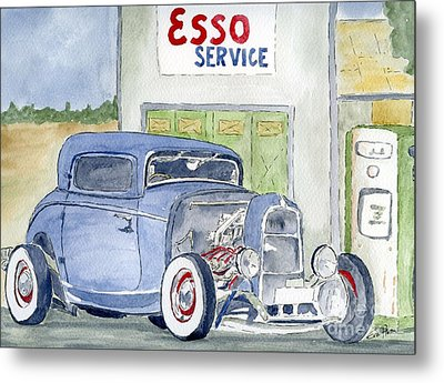 Metal Print featuring the painting Hotrod II by Eva Ason