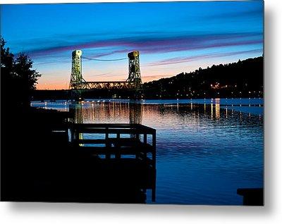 Houghton Bridge Sunset Metal Print
