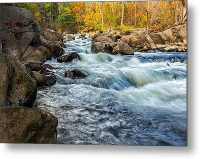 Housatonic River Autumn Metal Print by Bill Wakeley