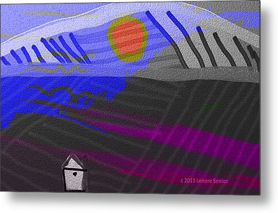 House At The Bottom Of The Hill Metal Print by Lenore Senior