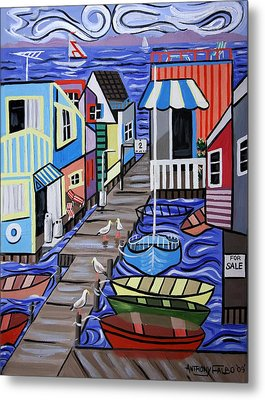 House Boats For Sale Metal Print by Anthony Falbo