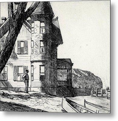 House By A River Metal Print by Edward Hopper