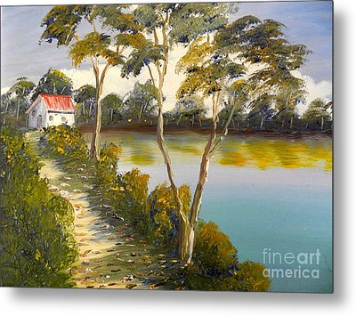 House By The Lake Metal Print