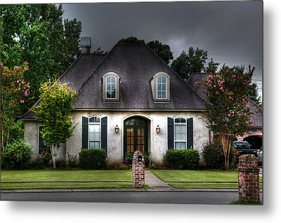 House In Hdr Metal Print