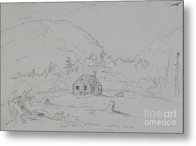 House In Mount Desert Metal Print by  Thomas Cole