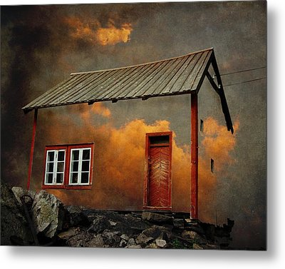 House In The Clouds Metal Print by Sonya Kanelstrand