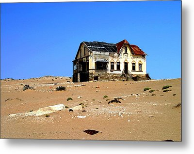 Metal Print featuring the photograph House In The Desert by Riana Van Staden