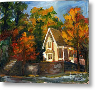 House In The Sun Metal Print by Jessica Cummings