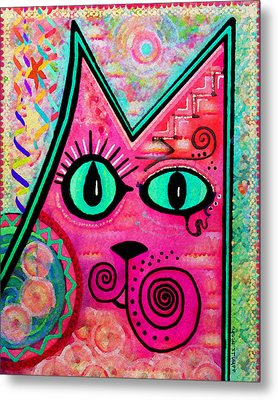 House Of Cats Series - Catty Metal Print by Moon Stumpp