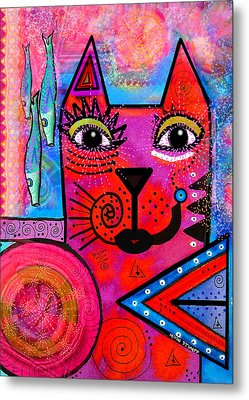 House Of Cats Series - Tally Metal Print by Moon Stumpp