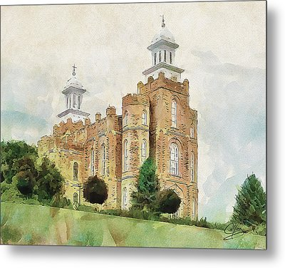 Metal Print featuring the painting House Of Defense by Greg Collins