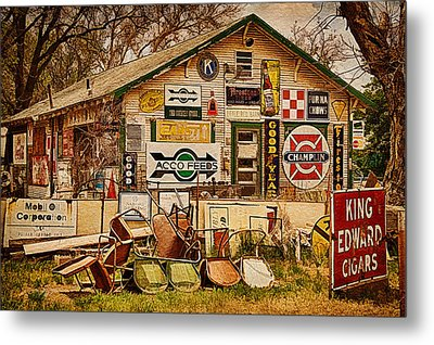 House Of Signs Metal Print by Priscilla Burgers