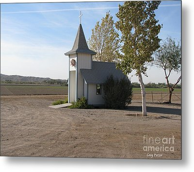 House Of The Lord Metal Print by Greg Patzer