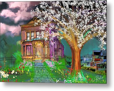 House On Milbert Street Metal Print by Gerry Robins