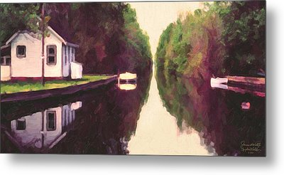 House On The C And O Canal Metal Print by Spyder Webb