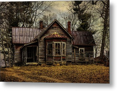 House On The Hill Metal Print by John Kimball