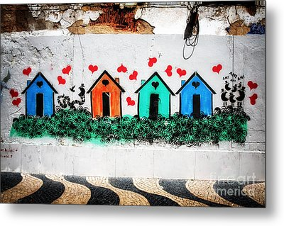 House On The Wall Metal Print by John Rizzuto