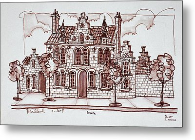 House Styled In The Flemish Metal Print