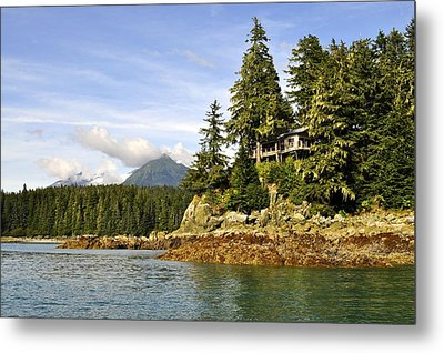 Metal Print featuring the photograph House Upon A Rock by Cathy Mahnke