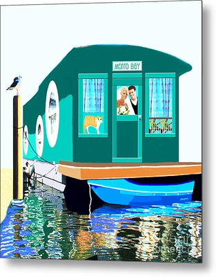 Houseboat Metal Print by Marian Cates
