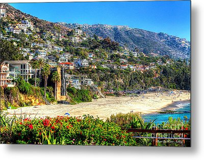 Houses By The Sea Metal Print by Kevin Ashley