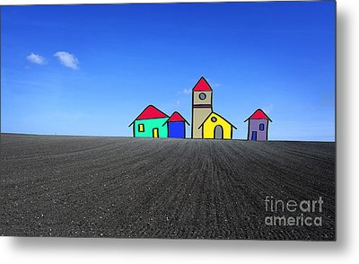 Houses. Field Concept Metal Print