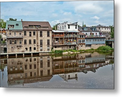 Houses In Elora Ontario Metal Print by Marek Poplawski