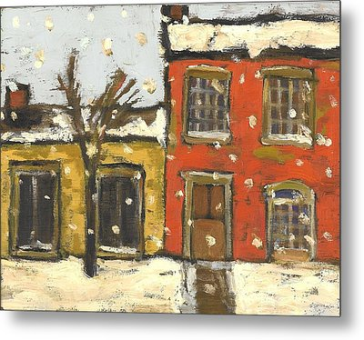 Houses In Sydenham Ward Metal Print by David Dossett