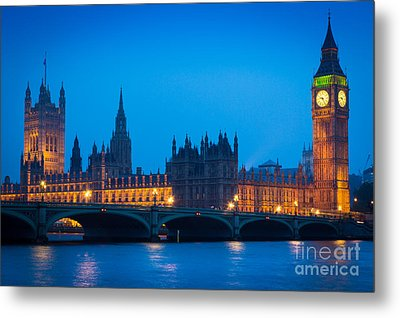 Houses Of Parliament Metal Print by Inge Johnsson