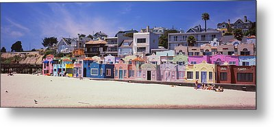 Houses On The Beach, Capitola, Santa Metal Print by Panoramic Images
