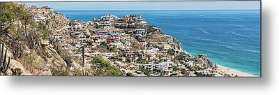 Houses On The Coast, Cabo San Lucas Metal Print by Panoramic Images