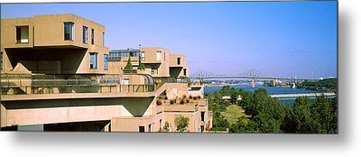 Housing Complex With A Bridge Metal Print by Panoramic Images