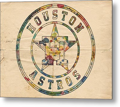 Houston Astros Logo Art Metal Print