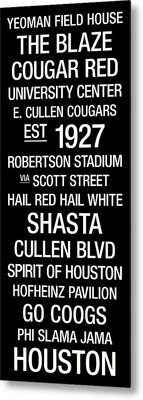 Houston College Town Wall Art Metal Print by Replay Photos