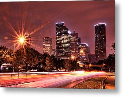 Houston Commute Metal Print