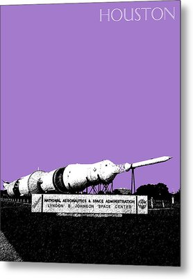 Houston Johnson Space Center - Violet Metal Print