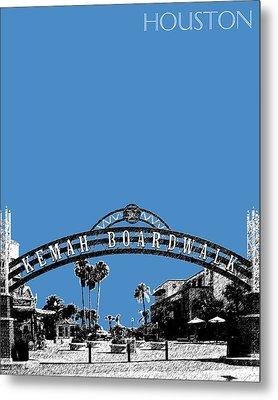 Houston Kemah Boardwalk - Slate Metal Print