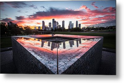 Houston Police Memorial Metal Print