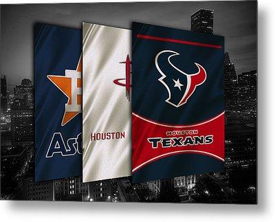Houston Sports Teams Metal Print