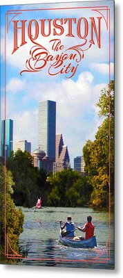 Houston The Bayou City Metal Print by Jim Sanders