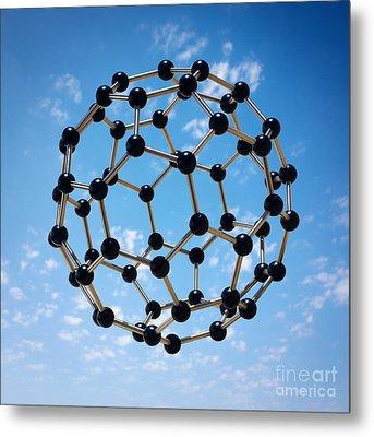 Hovering Molecule Metal Print by Carlos Caetano