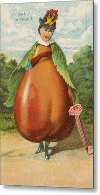 How Do I A Pear Metal Print by Aged Pixel