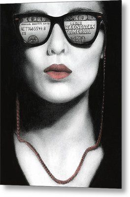 Metal Print featuring the painting How Do I Love Thee...let Me Count Your Money by Pat Erickson