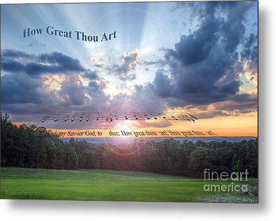 How Great Thou Art Sunset Metal Print by D Wallace